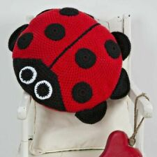 Wendy Crochet Ladybird Cushion Kit With Yarn 4mm Hook Pattern - Great Gift