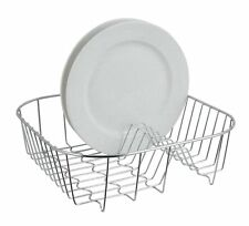 Small Chrome Plated Wire Dish Holder Sink Plate Cup Rack Drying Stand Drainer