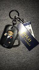 Ralph Lauren Polo Bear Leather Key Chain Fob Bottle Opener Tuxedo Martini NWT