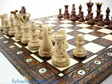Brand New Large Hand Crafted Wooden Chess Set 54x54  SCHACH  AJEDREZ  2015