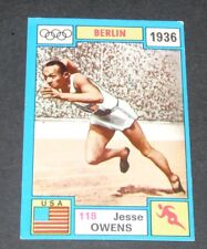 RARE N°118 JESSE OWENS USA PANINI OLYMPIA 1972 BERLIN 1936 OLYMPIC GAMES JEUX