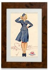 George Petty Pin-Up Art 057 Framed Print