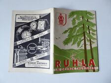 Broschur, Führer durch Ruhla und Umgebung, Köllner, DDR 1953, Inserate