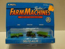ERTL Farm Machines Deutz-Allis Micro Tractor, Disc, Wagon Set #2221  C51-229