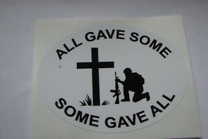 """POPPY STICKERS  X 2  REMEMBRANCE DAY  LEST WE FORGET  4"""" x 3""""appr ALL GAVE SOME"""