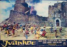 IVANHOE Italian fotobusta photobusta movie poster 2 R62 ELIZABETH TAYLOR ROBERT