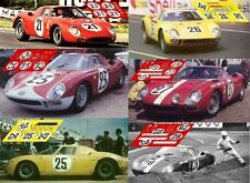 Calcas Ferrari 250 LM Le Mans 1965 1:32 1:24 1:43 1:18 slot decals