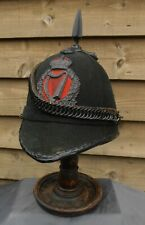 Light Infantry Home Service Green Helmet - Royal Irish Constabulary Plate - 1911