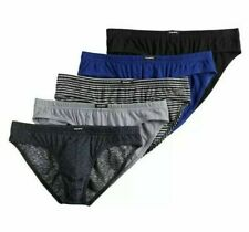 Men's Equipo 5-Pack Bikini Briefs (Navy-Black-Gray) Premium Cotton Underwear L
