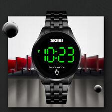 Men's Women's Quartz Touch Screen Digital Watch Waterproof Stainless Steel Gift