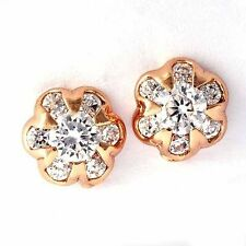 Fashionable Rose Gold Plated snowflake Shape crystal Earring Stud Free Shipping