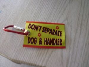 NEW assistance dog  / WOVEN Service Dog  clip on don't seperate dog and handler