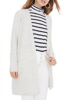 Madewell Gray 100% Merino Wool Open Front Lombard Long Sweater Coat Size XXS 2XS