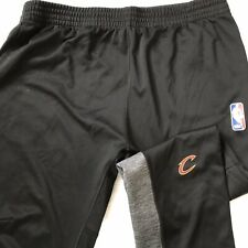 ADIDAS MENS XXL NBA Cleveland Cavaliers Cavs Athletic Track Pants Black EUC