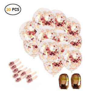 20Pcs RoseGold Confetti Balloons wedding/ Baby Shower/ Birthday Party Decoration