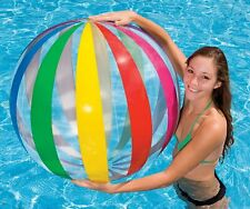 """Inflatable Beach Ball 42"""" Glossy Multicolourful Jumbo Giant Pool Blowup Toy Game"""
