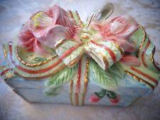 Fitz and Floyd Ceramic Floral Trinket Box