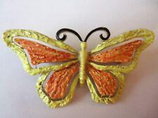 Vintage Jj Colorful Butterfly Large Brooch.Signed.60'S
