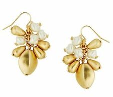 NEW Lilly Pulitzer GWP Gold Metallic Pearl Drop Earrings