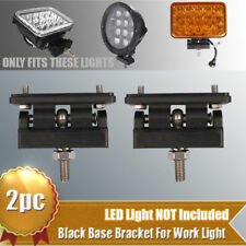 2X Base Mount Bracket Support Holder for 4''x6'' 45W High Low Beam LED Headlight