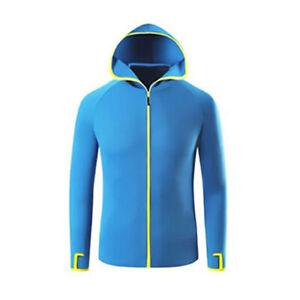 UPF 50+ Men UV Protection Jacket T-Shirt Hoodie Long Sleeve Outdoor Fishing Tops