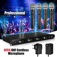 Professionale UHF Microfono Senza Fili Sistema 4 Channel 4 Handheld LCD KTV DJ