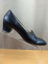 Naturalizer N5 Comfort Slip On Black Shoes Size 7M Block Heel Classic Loafers