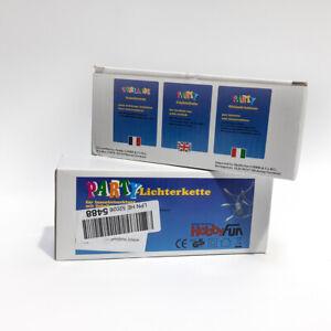 Hobby Fun 3910420 - 2x Lichterkette Standard 20er mit Schalter, weiss - B-Ware