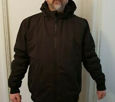 MENS PRIMARK BLACK ZIP UP PADDED CASUAL WINTER HOODED COAT JACKET SIZE XXL AW18