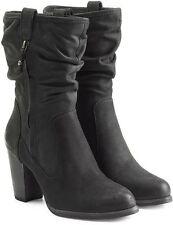 UGG® AUSTRALIA DAYTON BLACK NUBUCK LEATHER MID-CALF BOOTS UK 6.5 EUR 39 £180