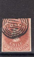 CHILE 1854 Desmadryl Sc.3 4 margins NO flaws X