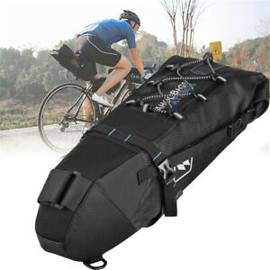Saddle Bag Under Seat with Water Bottle Holder and Waterproof Cover High Stability for Mountain Road Saddle Bag Bicycles