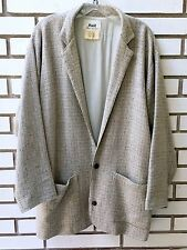 FLAX Jacket Blazer Wool-Linen Oatmeal Oversized Full Lining POCKETS Size M/L