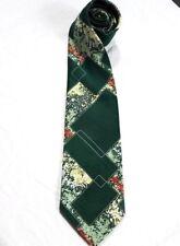 Vtg 70'S mens Wide Tie Necktie Bold Geometric Blue Pattern ugly menswear