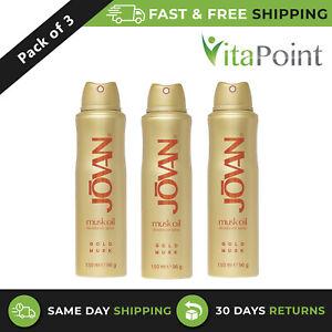 Jovan Gold Musk Oil Deodorant Spray For Women 150 ml / X3