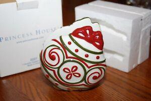 Princess House Ceramic Napkin Holder NIB #2227 Christmas Ornament Shape