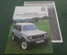 Feb 1985 COLT / MITSUBISHI UK SHOGUN SWB LWB 2.3 2.6 BROCHURE + ROAD TEST Pajero