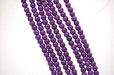 8 Large Howlite Stone Beads ROUND Ball 16mm, GRAPE PURPLE how0247