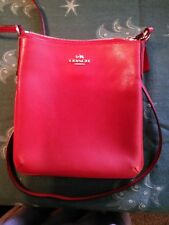 New COACH salmon/coral Leather Crossbody Shoulder Bag Purse No tags