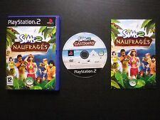 LES SIMS 2 LES NAUFRAGES : JEU Sony PLAYSTATION 2 PS2 (complet, envoi suivi)