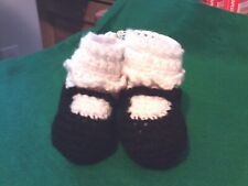 Adorable Handmade Baby Mary Jane Slippers - Size Small