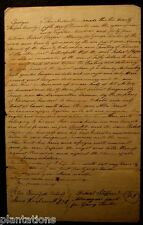 1844 Land Grant Wayne County Deed Document State Of Georgia