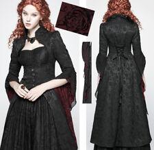 Manteau asymétrique traîne gothique victorien baroque jacquard corset PunkRave
