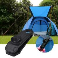 10pcs Awning Clamp Tarp Clips Snap Hangers Tent Camping Survival Q2 Tool Ti Z6R3