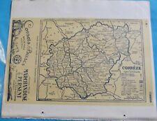 Atlas du Bottin 1946 Carte ancienne Géographie France Dép. Cher et Corrèze