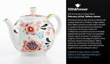 Crate&Barrel 50th Anniversary Teapot LIMITED EDITION-Yellena James- #180 of 200