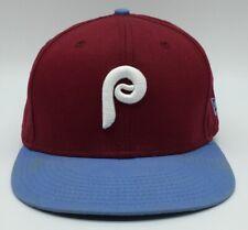 Vintage Philadelphia Phillies Plain Logo New Era Snapback Hat Cooperstown Retro
