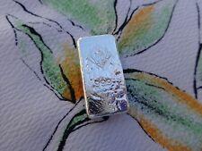 1 oz. Trident Silver Bread Bar ingot .999 fine silver