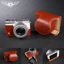 Real Leather Full Camera Case Bag Cover for Panasonic GM1 GM1S 12-32mm lens O