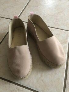RITMO Barcelona 100% Leather espadrilles Shoes-colour: Dusty Pink - Size 40